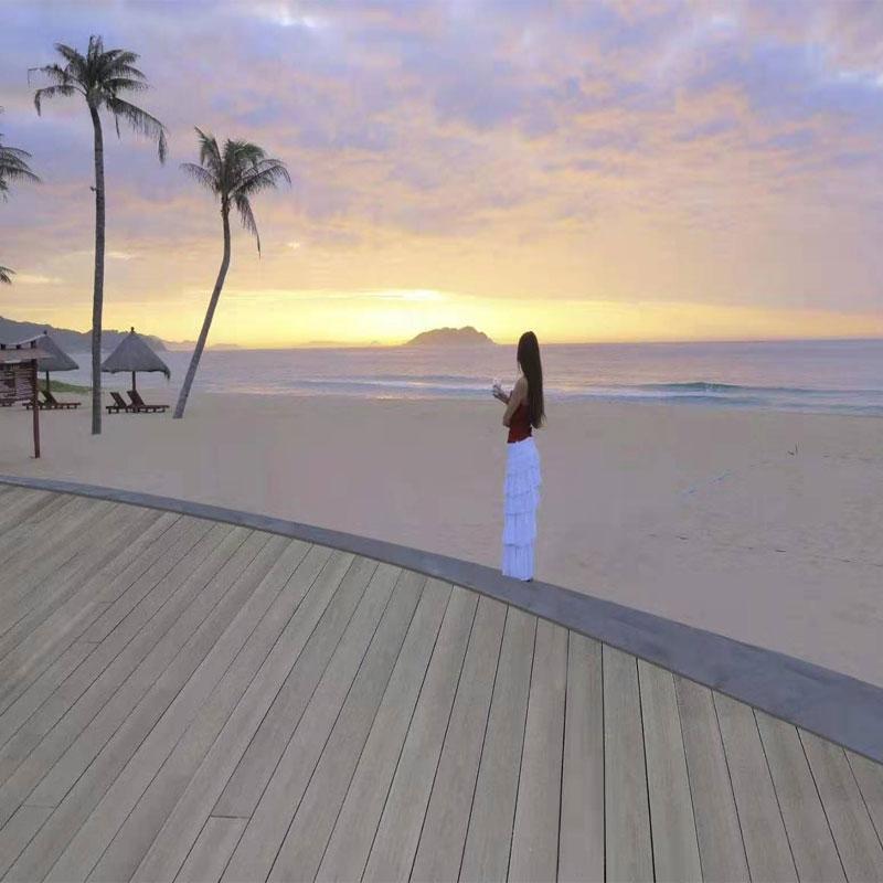 三亚亚龙湾木塑地板实拍