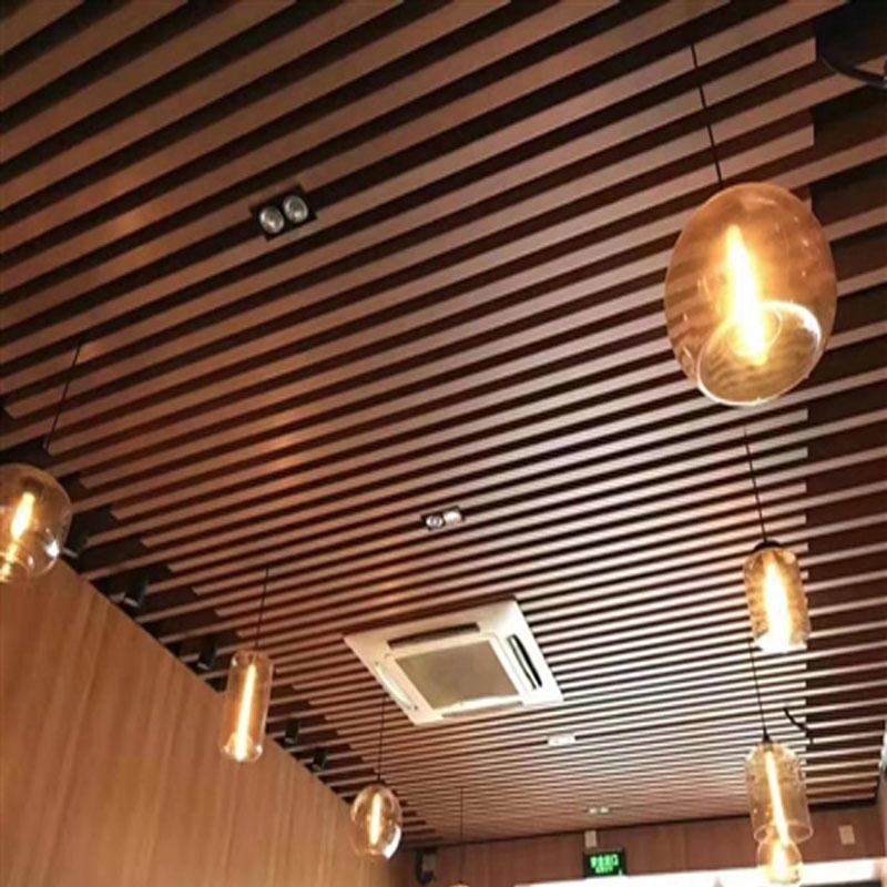 海口咖啡馆生态木吊顶