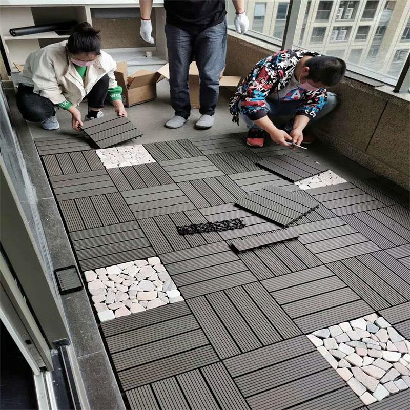 海南木塑地板安装